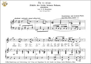 se tu m'ami, high voice in g minor, g.b.pergolesi. caecilia, ed. andré. tablet sheet music (landscape)
