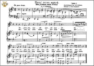 begli occhi, mercè. medium voice in e minor, a.f.tenaglia. caecilia, ed. andré. tablet sheet music (a5 landscape)