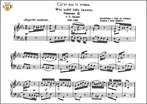 ch'io mai vi possa, medium voice in c minor, g. f. haendel. caecilia, ed. andré. tablet sheet music (a5 landscape)