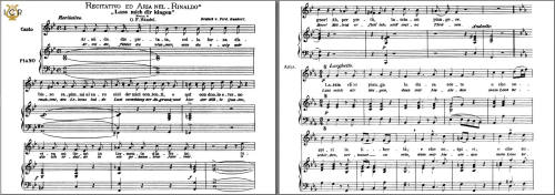 First Additional product image for - Lascia ch'io pianga, Medium Voice in E-Flat Major, G. F. Haendel. Caecilia, Ed. André. Tablet Sheet Music (A5 Landscape)