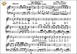 le violette, medium voice in g major, a scarlatti, caecilia, ed. andré. tablet sheet music (a5 landscape)
