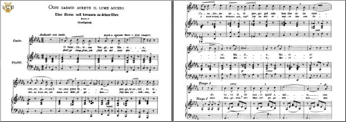 First Additional product image for - Ogni sabato avrete il lume acceso, Medium Voice in D-Flat Major, L. Gordigiani. Caecilia, Ed. André. Tablet Sheet Music (A5 Landscape)