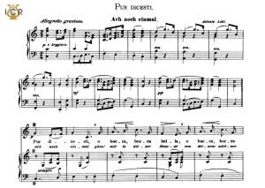 pur dicesti, o boca bella, medium voice in c major, a lotti. caecilia, ed. andré. tablet sheet music (a5 landscape)