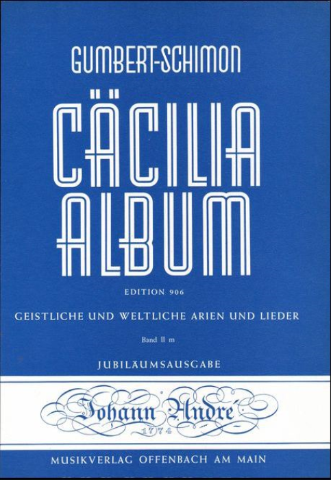 First Additional product image for - Che faro senza Euridice, Medium Voice in C Major, C.W. Glück. Caecilia, Ed. André (A4)