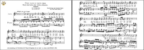 First Additional product image for - Dopo tante e tante pene (Cantata). Medium Voice in G Minor, B.Marcello  Caecilia, Ed. André. tablet Sheet Music (Landscape)