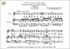 dopo tante e tante pene (cantata). medium voice in g minor, b.marcello  caecilia, ed. andré. tablet sheet music (landscape)