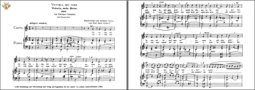First Additional product image for - Vittoria, mio core, Medium Voice in C Major, G Carissimi. Caecilia, Ed. André.Tablet Sheet Music (Landscape)