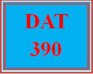 DAT 390 Wk 5 - Apply: Post-Course Assessment Quiz   eBooks   Education