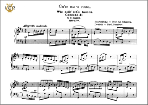 ch'io mai vi possa, low voice in b minor, g.f. haendel. caecilia, ed. andré. tablet sheet music (landscape)