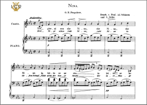 nina, low voice in c minor, g. b. pergolesi. caecilia, ed. andré. tablet sheet music (landscape)
