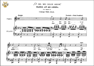 o del mio dolce ardor, low voice in d minor, c.w.glück.caecilia, ed. andré. tablet sheet music (landscape)