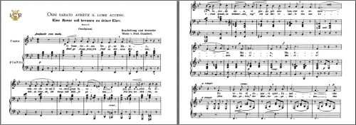 First Additional product image for - Ogni sabato avrete il lume acceso, Low Voice in B-Flat Major, L. Gordigiani. Caecilia, Ed. André. Tablet Sheet Music (Landscape)