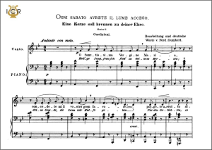 ogni sabato avrete il lume acceso, low voice in b-flat major, l. gordigiani. caecilia, ed. andré. tablet sheet music (landscape)