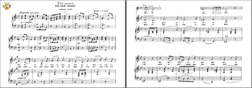First Additional product image for - Pur dicesti, o boca bella, Low Voice in B-Flat Major, A Lotti. Caecilia, Ed. André. Tablet Sheet Music (Landscape)