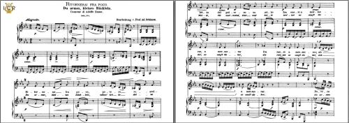 First Additional product image for - Ritornerai fra poco, Low Voice in C Minor, J. A. Hasse. Caecilia, Ed. André. Tablet Sheet Music (Landscape)