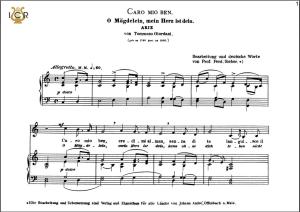 Caro mio ben, Low Voice in C Major, G.Giordani.  Caecilia, Ed. André. Tablet Sheet Music (Landscape) | eBooks | Sheet Music