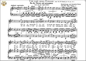 che faro senza euridice, low voice in b-flat major, c.w. glück. caecilia, ed. andré (a4)
