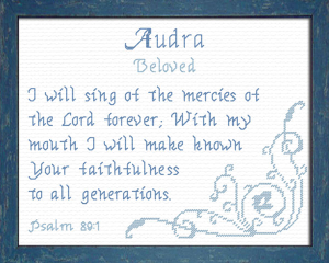 Name Blessings - Audra | Crafting | Cross-Stitch | Other