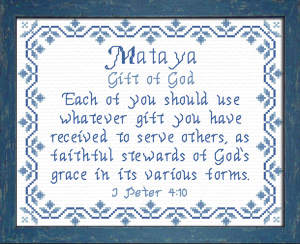 name blessings - mataya