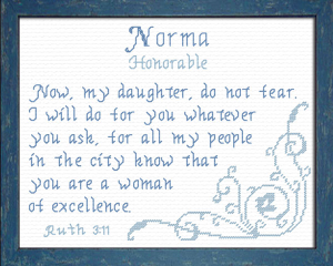Name Blessings - Norma | Crafting | Cross-Stitch | Other