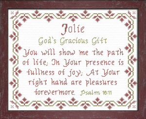 Name Blessings - Jolie | Crafting | Cross-Stitch | Other