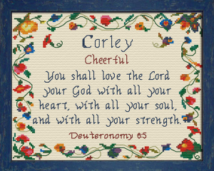 Name Blessings - Corley | Crafting | Cross-Stitch | Other