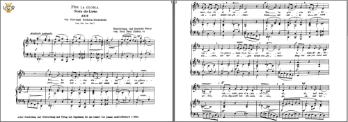 First Additional product image for - Per la gloria d'adorarvi, Low Voice in D Major, G.B.Bononcini. Caecilia, Ed. André.Tablet Sheet Music (Landscape)