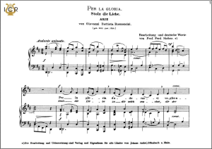 per la gloria d'adorarvi, low voice in d major, g.b.bononcini. caecilia, ed. andré.tablet sheet music (landscape)