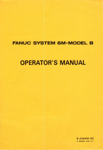 FANUC 6M-Model B Operator's manual | Documents and Forms | Manuals