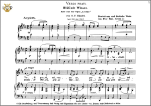 verdi prati, low voice in d major, g.f.haendel. caecilia,tablet sheet music (landscape)