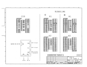 fanuc a16b-2203-0110 to 0113 fs0c, fs0d i/o card c5, c6, c7 (full schematic circuit diagram)