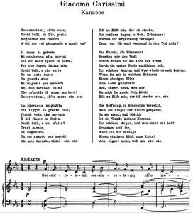 Socorretemi, ch'io moro. G. Carissimi. Canzone (Soprano). Alte Meister des Bel Canto. Ed. Peters 3348-a (A4) | eBooks | Sheet Music