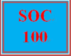 soc 100 wk 2 – socialization and self-identity presentation