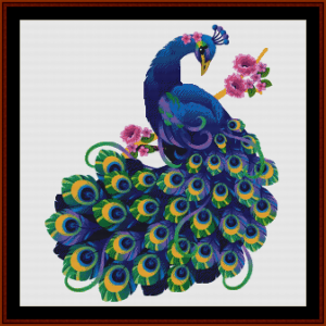 once upon a peacock - fantasy cross stitch pattern by cross stitch collectibles