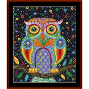 midnight owl - fantasy cross stitch pattern by cross stitch collectibles