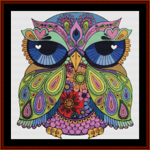 Sentient Owl - Fantasy cross stitch pattern by Cross Stitch Collectibles | Crafting | Cross-Stitch | Other