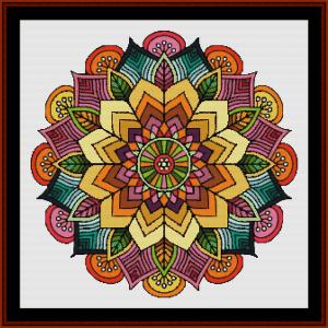 mandala 56 cross stitch pattern by cross stitch collectibles