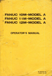 fanuc 10-11-12 m operator's manual