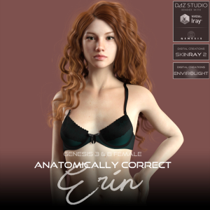 Anatomically Correct: Erin for Genesis 3 and Genesis 8 Female | Software | Design
