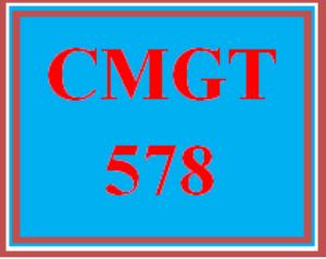 CMGT 578 Wk 5 - Intermediate Strategic IS Plan   eBooks   Education