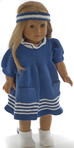 DollKnittingPattern 0211D ERIKA - Dress, pants, hairband and shoes-(English) | Crafting | Knitting | Other