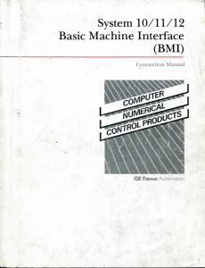 FANUC 10-11-12 M/T Connecting manual (BMI) | Documents and Forms | Manuals