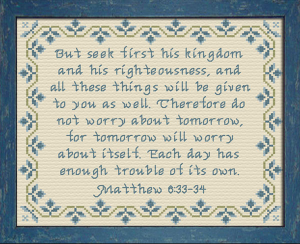 Seek First His Kingdom | Crafting | Cross-Stitch | Other