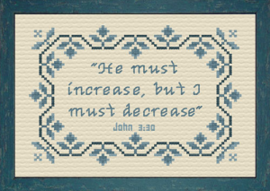 I Must Decrease | Crafting | Cross-Stitch | Other