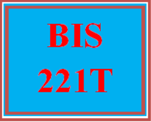 BIS 221T Apply: Week 1 Apply Assignment   eBooks   Education