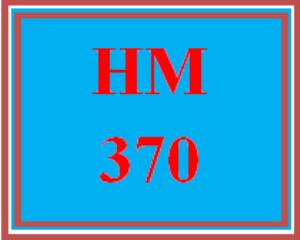 HM 370 Wk 1 - Destination City Proposal - Part I | eBooks | Education