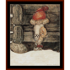 merry christmas – john bauer cross stitch pattern by cross stitch collectibles
