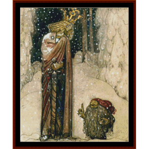 The Princess and the Troll – John Bauer cross stitch pattern by Cross Stitch Collectibles | Crafting | Cross-Stitch | Other