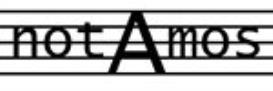 dulichius : una est columba mea : transposed score