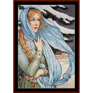 winter – elisabeth sonrel cross stitch pattern by cross stitch collectibles